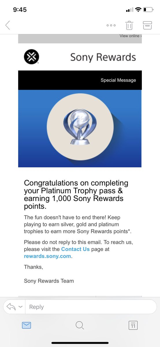 Oh my 13 platinums finally paid off #SonyRewards