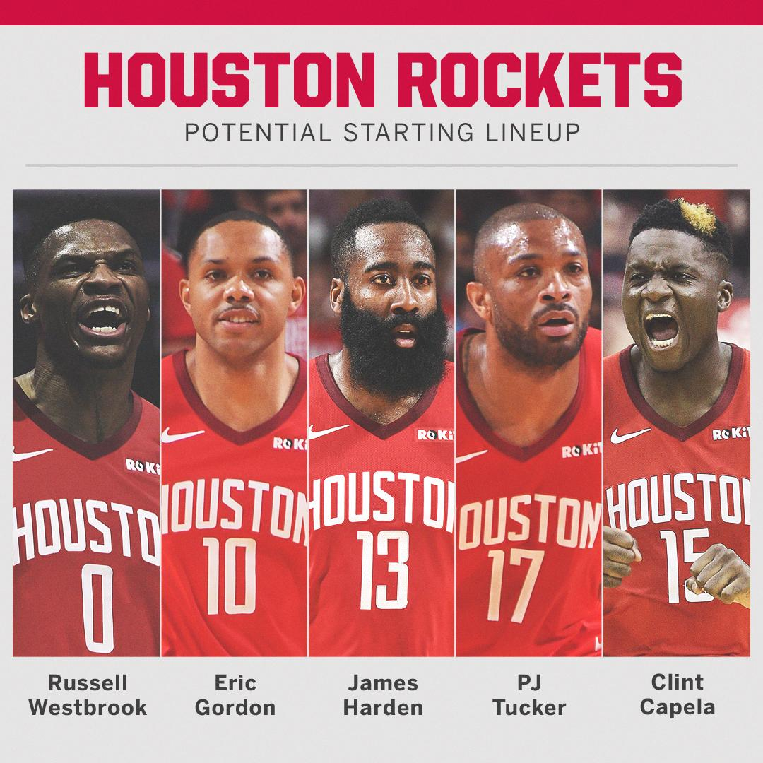 The new-look Rockets 👀
