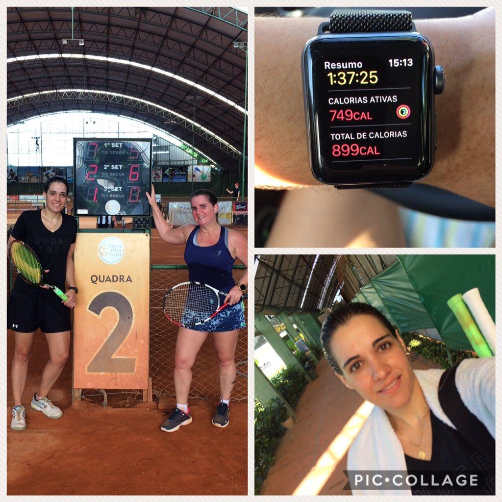 Hoje jogo pelo ranking novamente...ganhei! Muito bom! #RTC #Tennis #Simbora