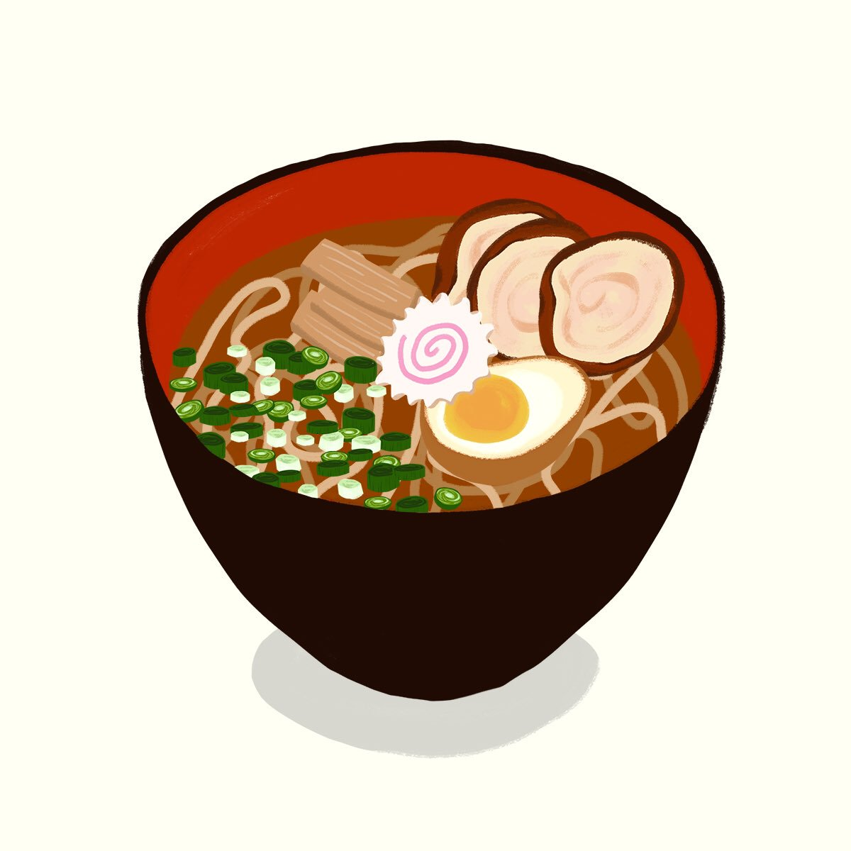 #ramen #hangry #foodforthought #japanesefood #illustratedfood #foodillustration #ramenillustration