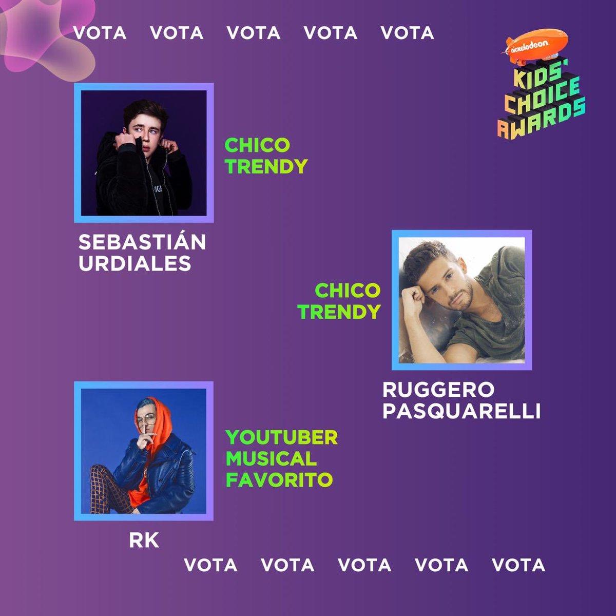 🔁🚀 RT PARA VOTAR 🚀🔁 #KCAMexico + #SebastianUrdialesTrendy #RuggeroPasquarelliTrendy #RKElArtista