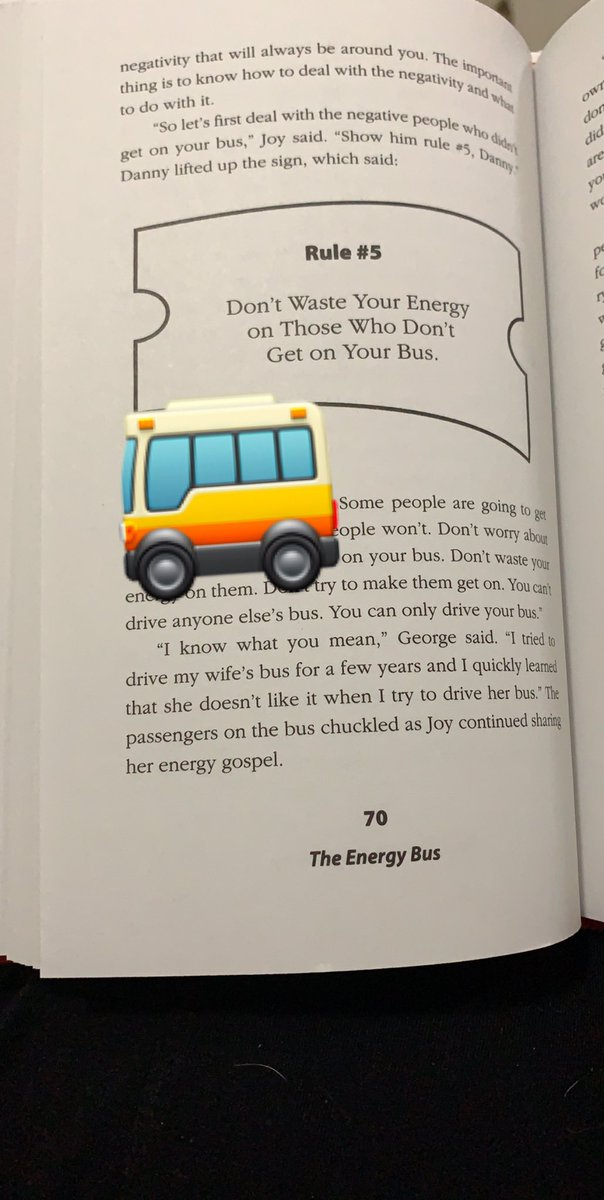 An oldie but really goodie 😀Loving The Energy Bus! @JonGordon11 #getonthebus