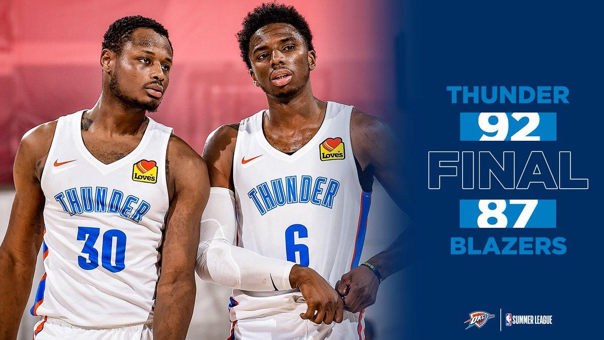 Three in a row.   #ThunderUp » #NBASummer