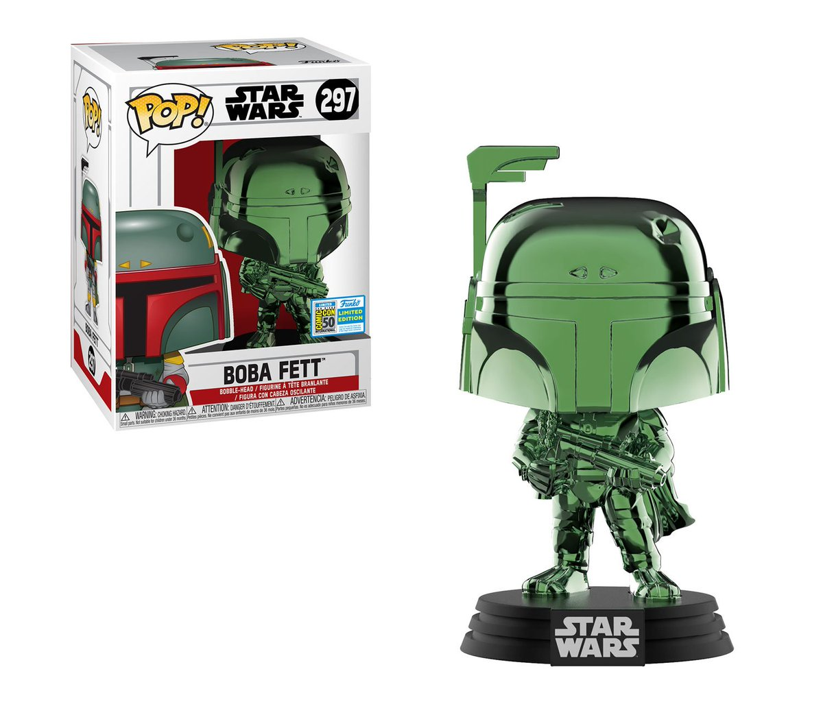RT & follow @OriginalFunko for a chance to WIN a #SDCC2019 exclusive Green Chrome Boba Fett Pop! #FunkoSDCC #SDCC50