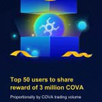 Image for the Tweet beginning:  has launched #COVA trading