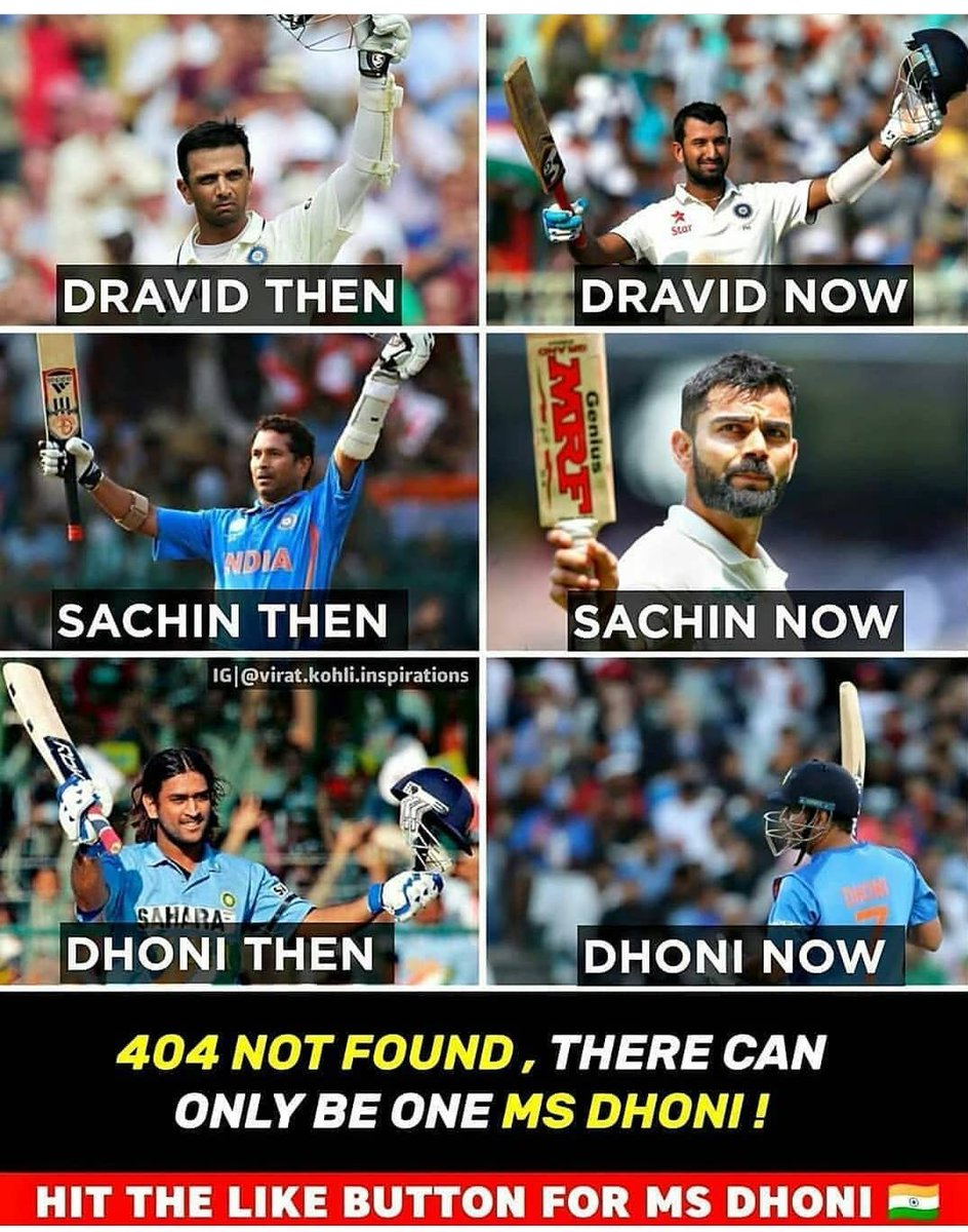 Only one msdhoni #CaptainCool #DhoniInBillionHearts https://t.co/ZFT9nilZze