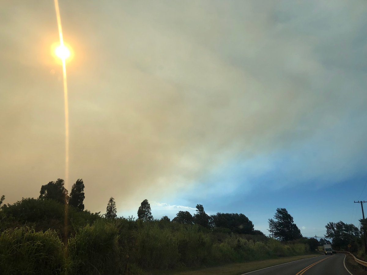 test Twitter Media - Smoke cloud viewed from Makawao. Road closures in Kihei and Waikapu. #cmweather #Fire #Maui #Mauifire https://t.co/Kjt2fykOMP