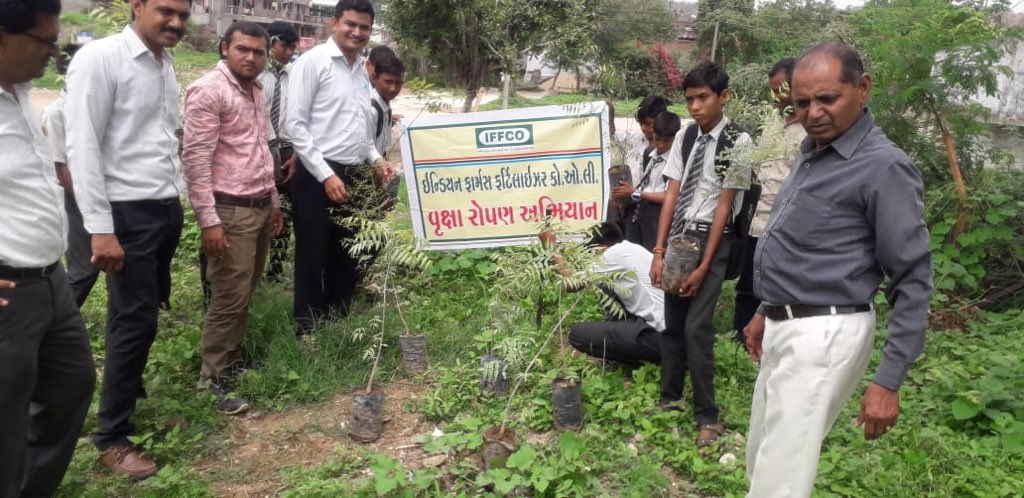 Trees are very important for all of us. They nurture our soils and reduce soils water loss from evaporation and maintain its health by reducing erosion and adding nutrients through leaf litter and #organic matter. Grow trees. At #IFFCO, we are planting #neem across all #India.