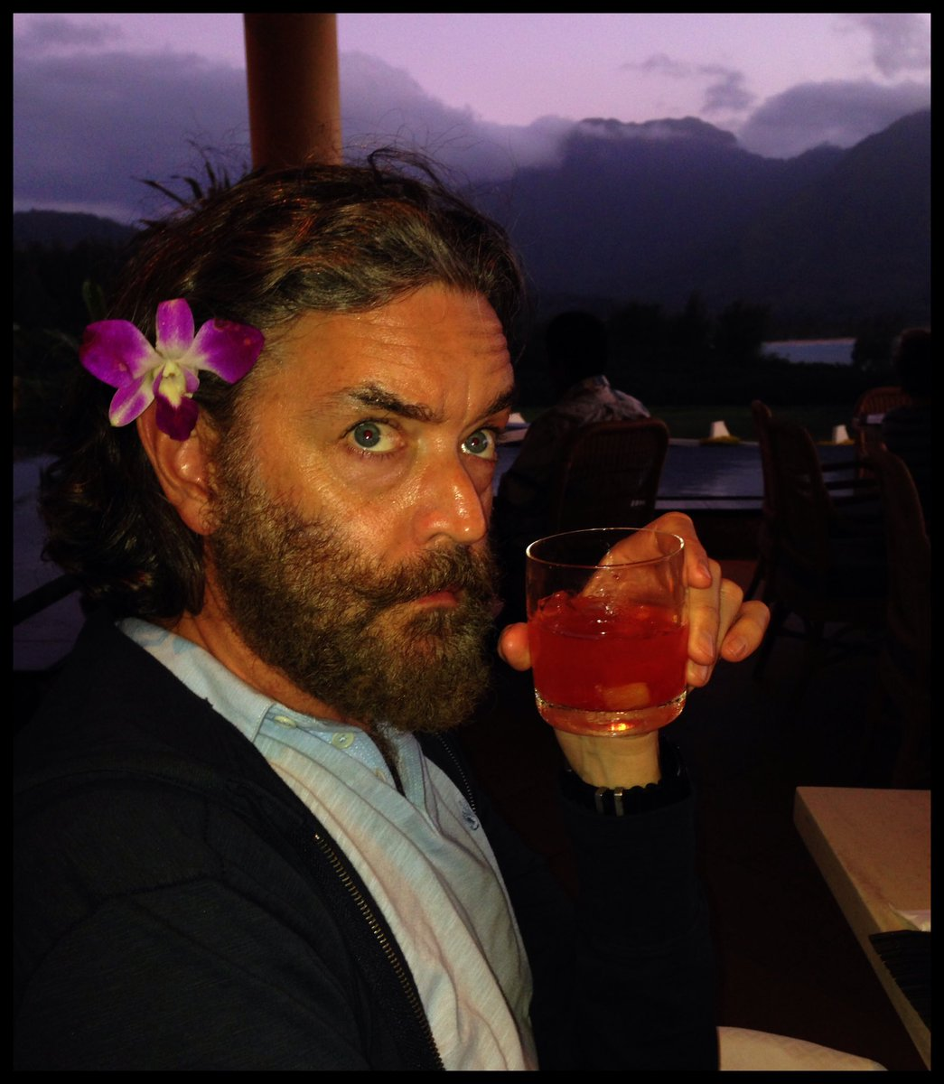 #TBT to mai tais and purple skies in Hawaii many years ago