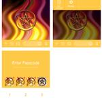 Image for the Tweet beginning: NEW!!  #五芒星 を使った神秘的なきせかえリリースです 全4色 こちらは黄色が強い色味になっています    きせかえ一覧はこちらから   #pentagram #amulet #charm #お守り #SPN #星型