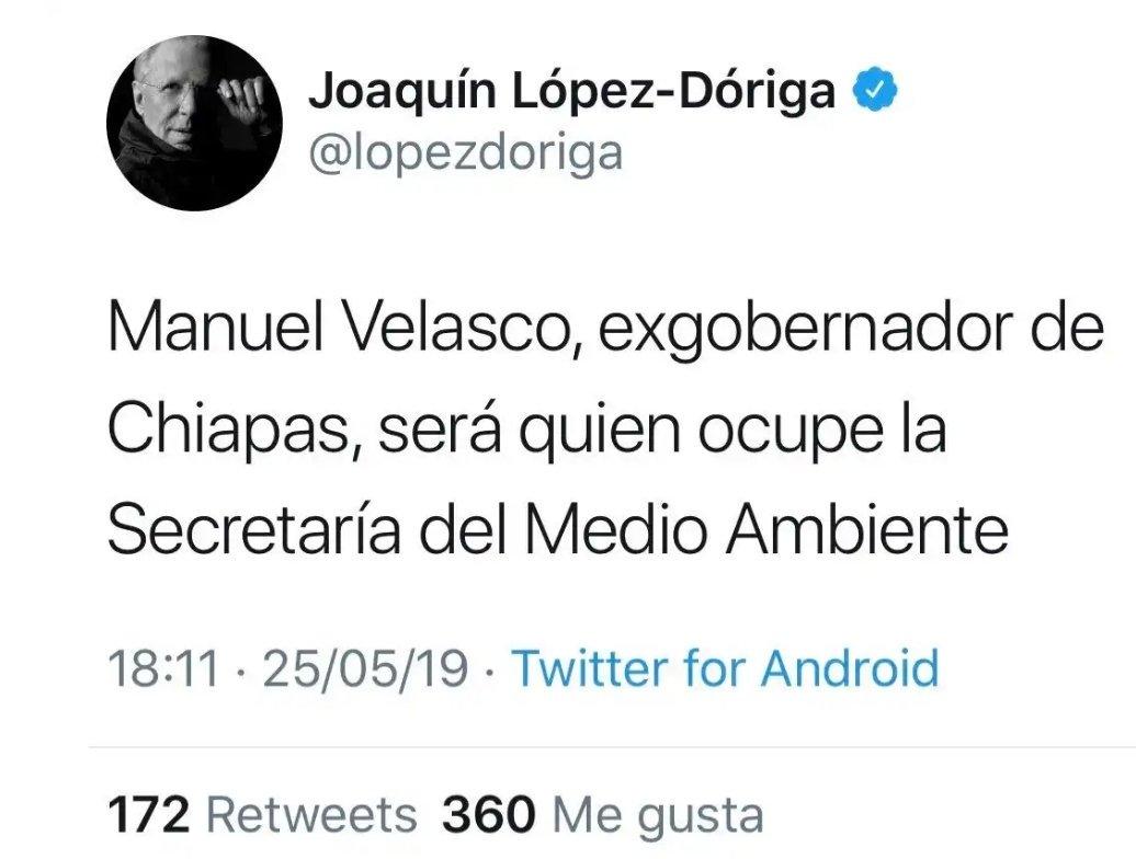 Me imagino que se conjuga así.Yo @LopezDoriga Confirmo que Manuel Velasco será Secretario de..Yo @lopezdoriga confirmo que Manuel Velasco NO será...¿O no va así?Hasta aquí mi reporte y conjugación Joaquín.
