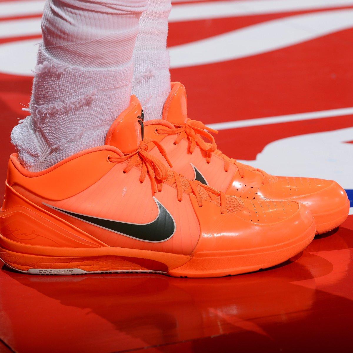 More than just OK, @Lanky_Smoove brings the 🔥 with the Nike Kobe 4 Protro in Las Vegas!   #ATT #CourtsideKicks #NBAKicks
