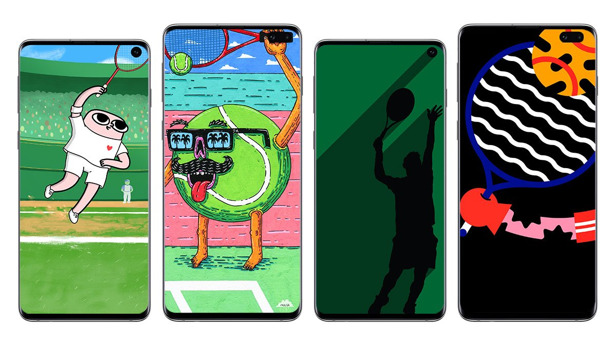 When you feel like causing a racket. 🎾 Grab fresh wallpapers by @Ketnipz, @MulgatheArtist, @Mattcabb and @Marco_Oggian. Download now: http://smsng.co/S10-Wallpaper #GalaxyS10