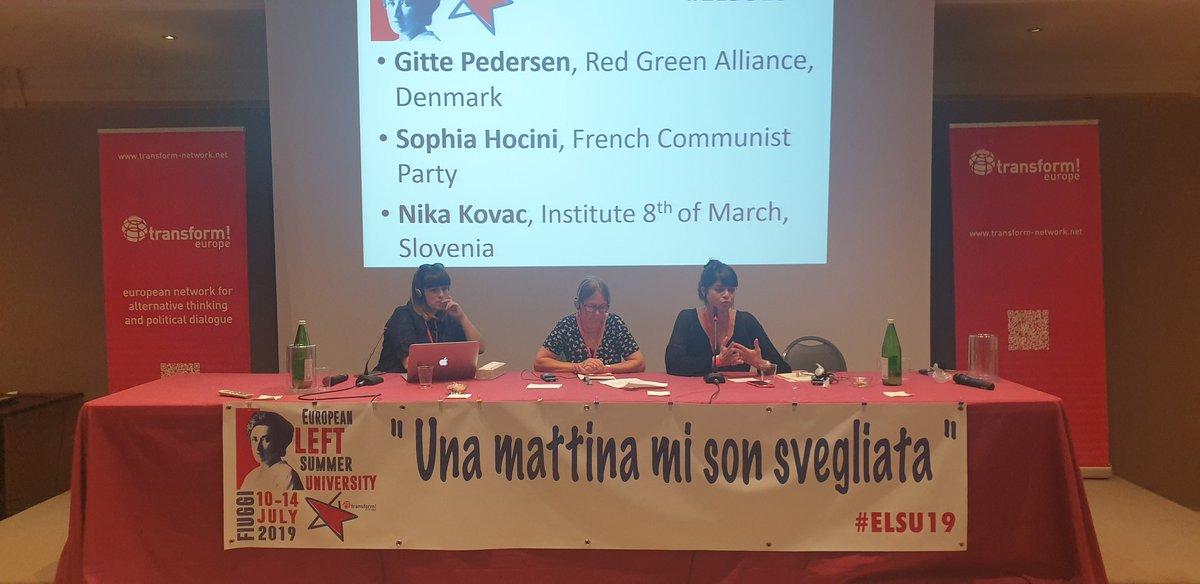The Care Revolution: care, work band the precariousness of women. Ora a #Fiuggi alla #summeruniversity 2019 del partito della #SinistraEuropea #ELSU19 @europeanleft