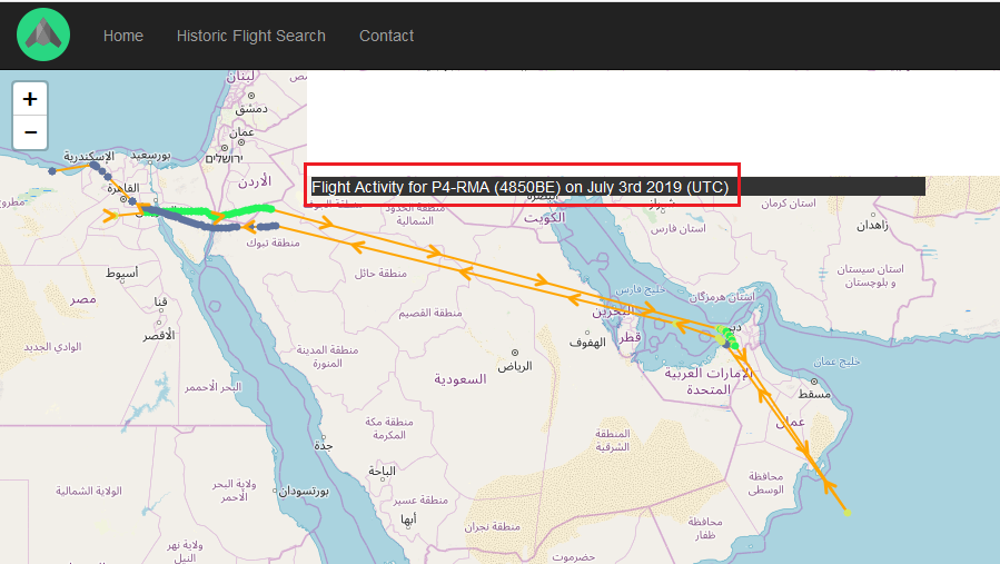 "…#Libya knows b/c #Haftar in his @UN recognized (P.159) charter P4-RMA (4850BE) made 2 trips to #UAE within a week - July 3 AND 7-9.  To search>""Other Tracking Info"">""Flight History Data>""Search Type""> ""Enter Registration>""P4-RMA"" https://www.adsbexchange.com/   https://www.securitycouncilreport.org/atf/cf/%7B65BFCF9B-6D27-4E9C-8CD3-CF6E4FF96FF9%7D/s_2018_812.pdf …"