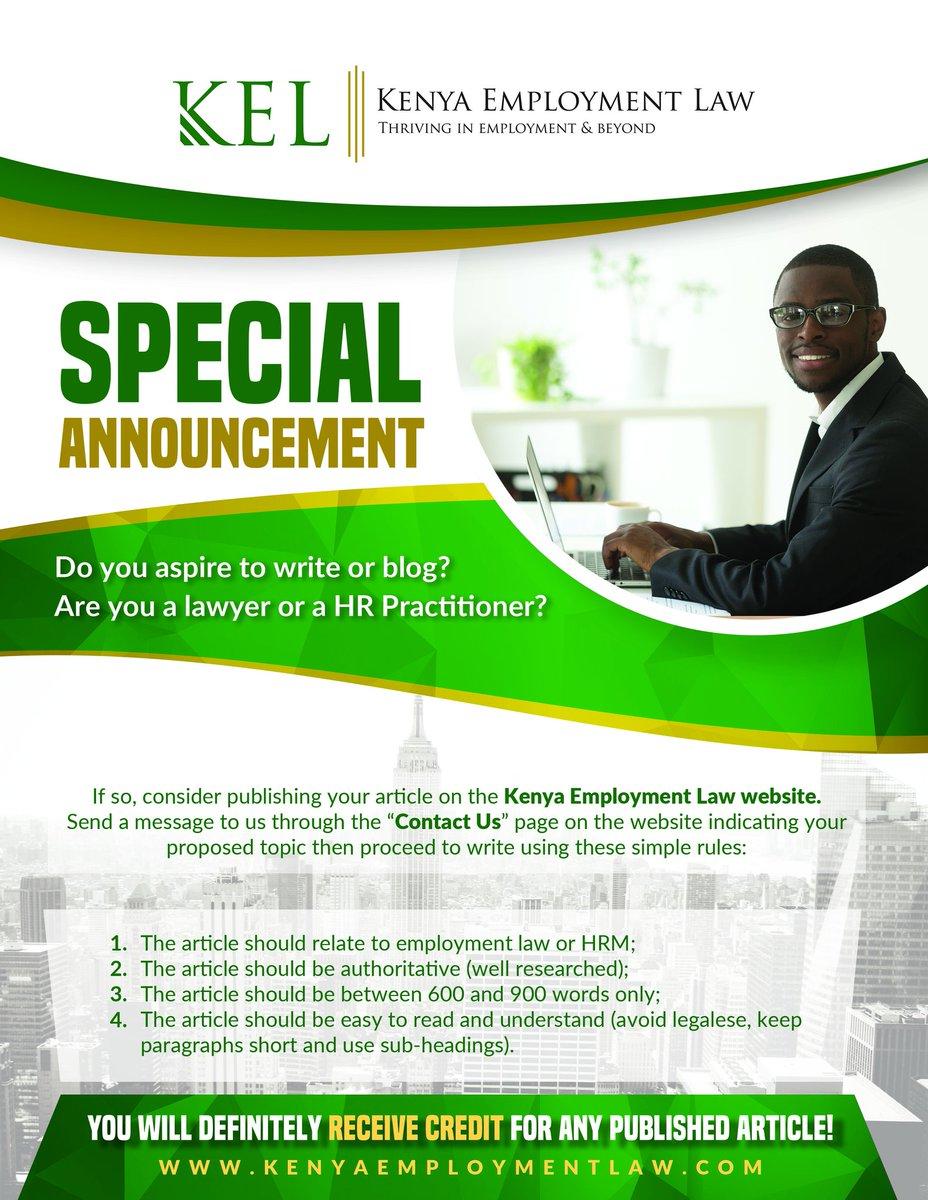 Kenya Employment Law (@employmentlaw_K) | Twitter