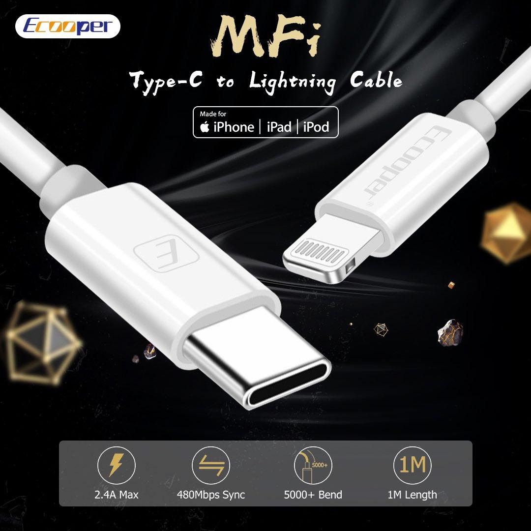 Ecooper MFI iPhone USB/type-c cable is coming! Original C94/C48 chip #tech #technology #eleworkdlinney #ecooper #cableaccessory #cablebite #phoneaccessoryforiphone #electronicsidea #lightcable #usbcableiphone #cableinnovator #usbcable #ledcable #usbcablemurah #innovative #electrpic.twitter.com/i25vNJ8aEX