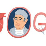 Image for the Tweet beginning: Today's #googledoodle honors Dr. Rene