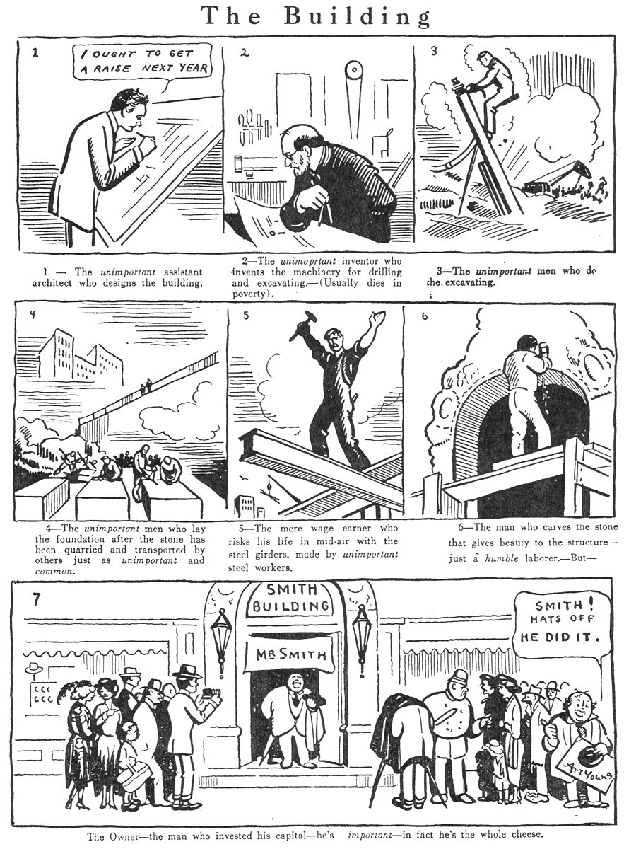 Art Young telling it like it still very much is, 100 years ago.