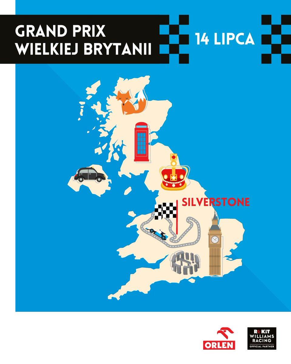 #BritishGP to impreza o wielkiej historii sięgającej 1950 roku. Na torze @SilverstoneUK zbudowanym na byłym lotnisku wojskowym odbyły się pierwsze w historii zawody @F1. Już w niedzielę na starcie legendarnego wyścigu stanie Robert #Kubica. Trzymamy kciuki! 🇬🇧 #WeAreRacing #RK88