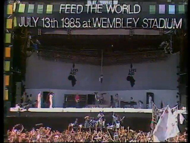 #OnThisDay 1985: Live Aid began, in Wembley Stadium.
