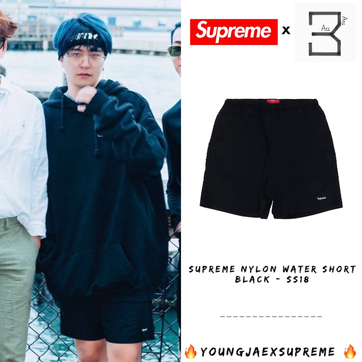 #GOT7NOW [190712] Boy : @GOTYJ_Ars_Vita   #YoungjaexSupreme  Supreme Nylon Water Short Black - SS18 $110.00 Approx THB3,367 + #Supremeboy #Youngjae  #ความยองแจ #영재<br>http://pic.twitter.com/8p3O6QhQIZ