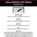 GOAL KEEPER TRIALS - 2019/20 SEASON  Click the link for further info ➡️  https://t.co/OOAhXJ8BQG