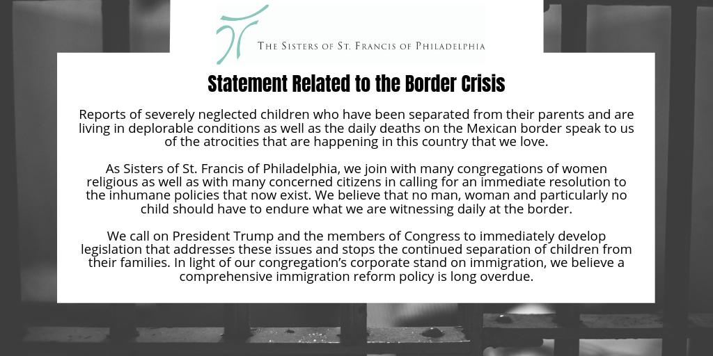 test Twitter Media - A statement and a plea to President Trump and Members of Congress. #bordercrisis https://t.co/pZJg8FdLNa