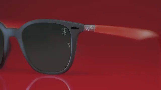 Get ready to cheer for the #BritishGP thanks to the @rayban for @scuderiaferrari eyewear: a bold combination of contrasting colors, to easily express a nonconformist spirit. http://bit.ly/SFC_BritishGP_ #ScuderiaFerrariCollection