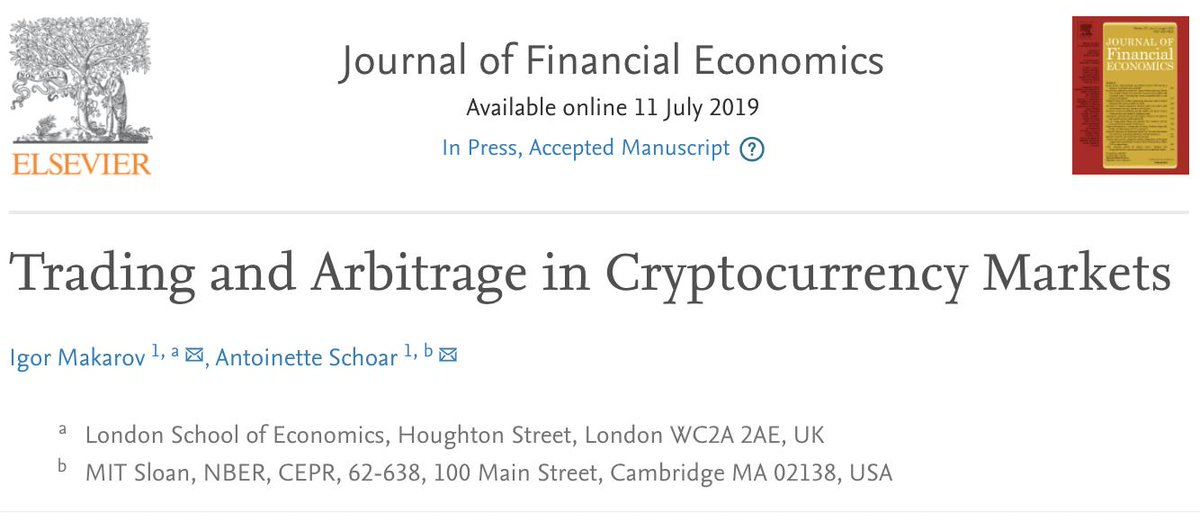 arbitrage in cryptocurrency markets