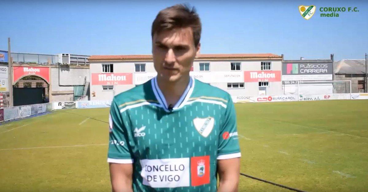 Jonathan Vila en O Vao (Foto: Coruxo FC).