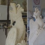 Image for the Tweet beginning: The beautifully carved grotesques near