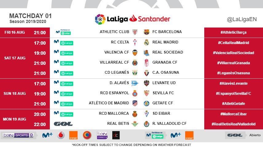 Calendrier Madrid.Team Real Madrid On Twitter Officiel Le