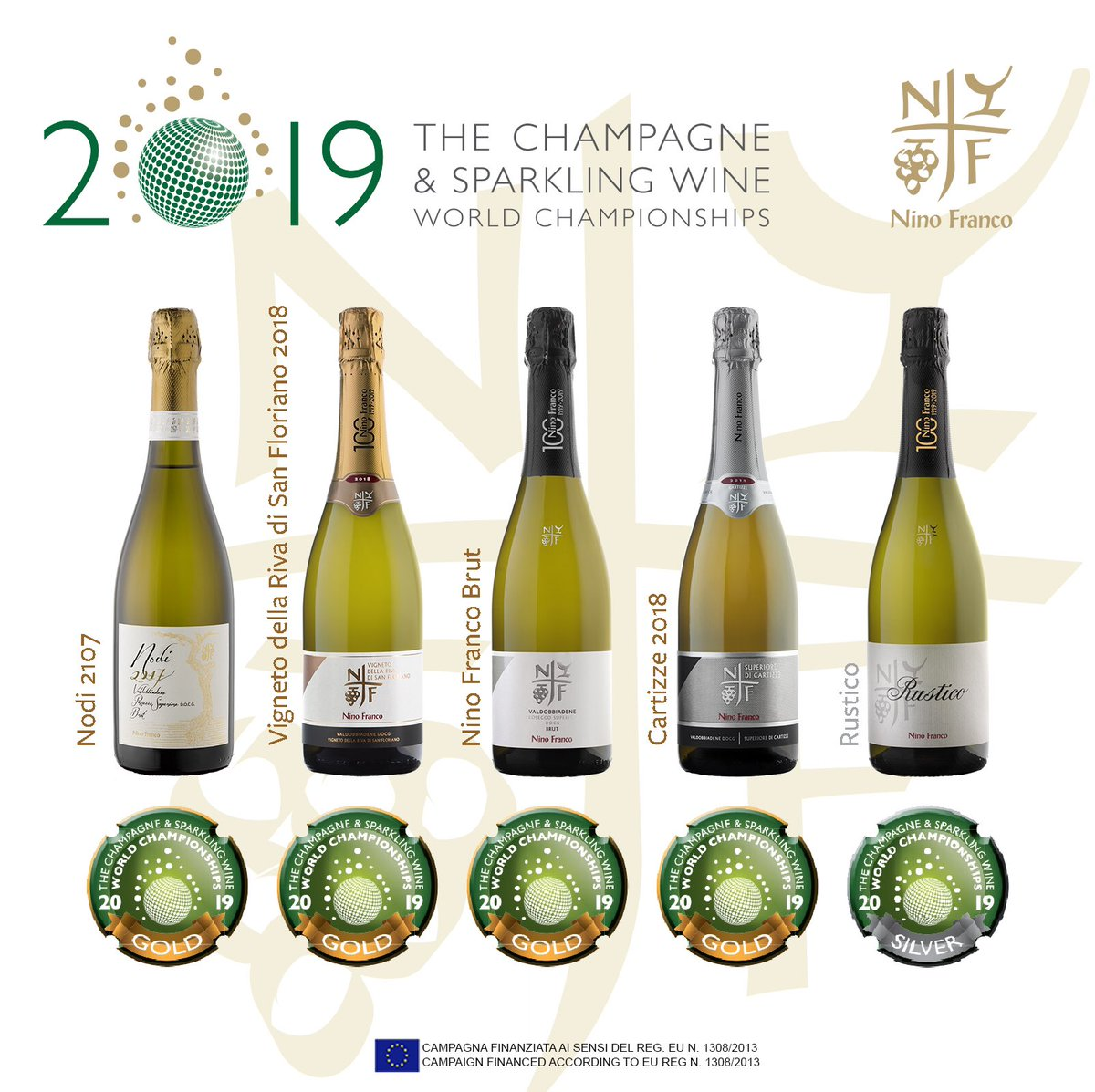 The results of the Champagne & Sparkling Wine World Championships! Thank you so much to @EssiAvellan @mrtomfizz Tony Jordan #NinoFranco1919 #ProseccoSuperiore #Valdobbiadene #cswwc #cswwc2019 #WineAwards #Nodi #VignetodellaRivadiSanFloriano #Cartizze #NinoFrancoBrut #Rustico