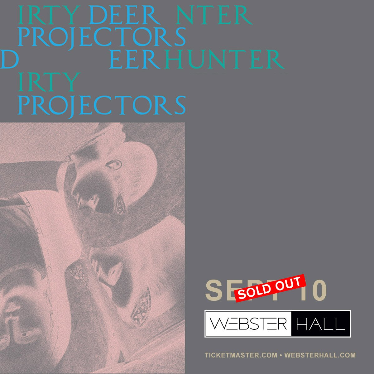 Sept 10 w/ @DirtyProjectors at @WebsterHall is sold out. <br>http://pic.twitter.com/qpu6ksN3Tv