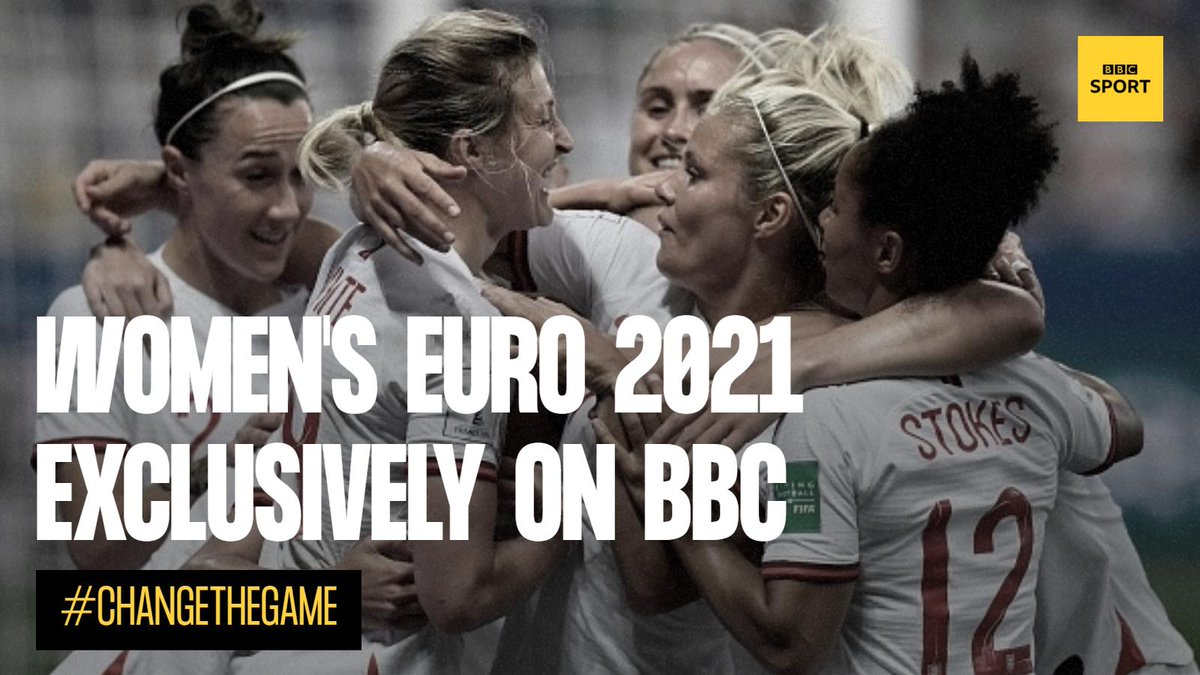 Brilliant news!The BBC will be the only place to follow the UEFA Women's Euro 2021, held in England.We'll have extensive coverage of every game across TV, radio and online after securing exclusive rights.We can't wait! #changethegame➡http://bit.ly/2jBKgaj