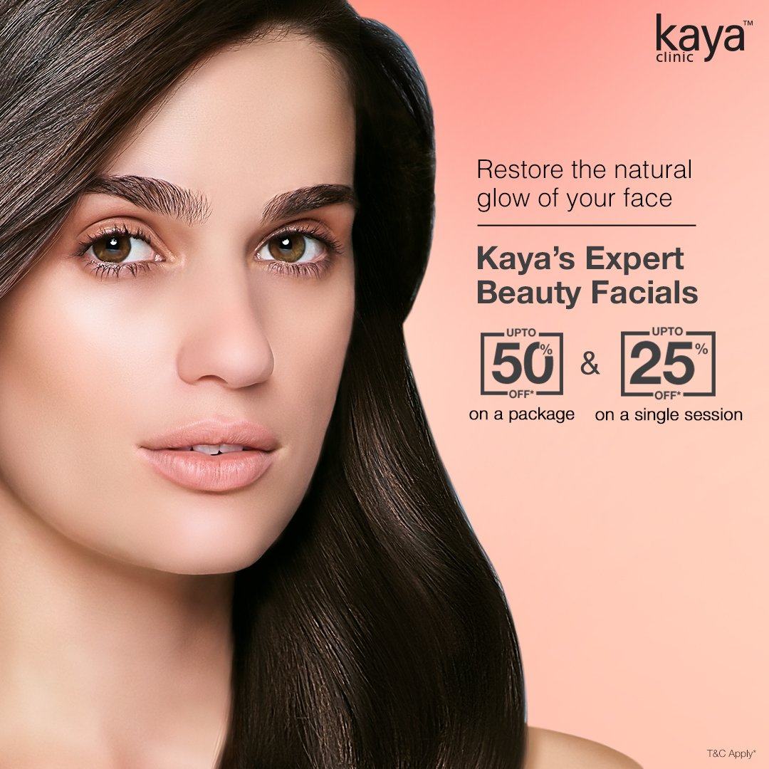 Common after effect of Kaya Beauty Facials: Clear, refreshed & nourished skin. Have you tried it yet? Book your appointment or call us now at 1800-209-5292.  Get upto 50 % off on a package & upto 25% off on a single session. T&C*  #KayaClinic #KayaIndia #Dermatologists #SkinCare https://t.co/7Xj183eOqj