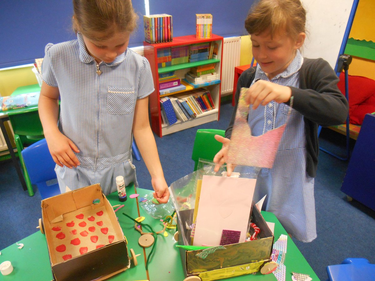 Beep, beep! Our Design and Technology vehicles are finally complete . Look at the creativity of Year 2: pom-poms,  glitter and all things colourful.  Get ready parents/carers they will be coming home next week! #achieving @the_atlp