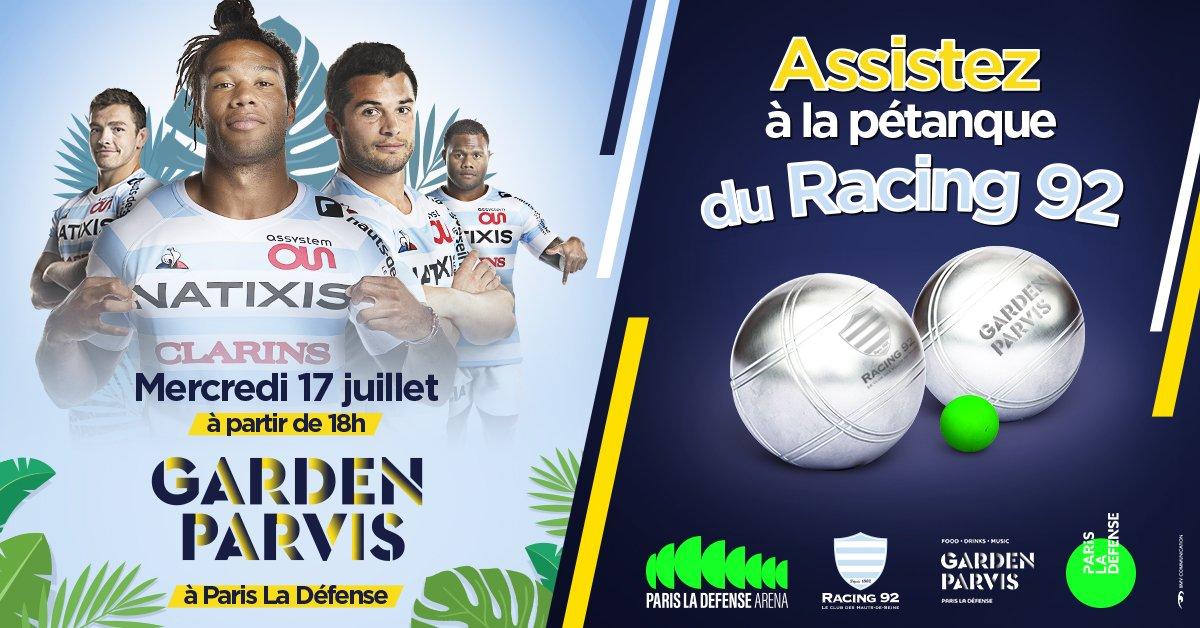 RT @ParisLaDefense: Les joueurs du @racing92 échangent le temps d'une soirée, les ballons ovales contre des boules de pétanque ! Venez les…