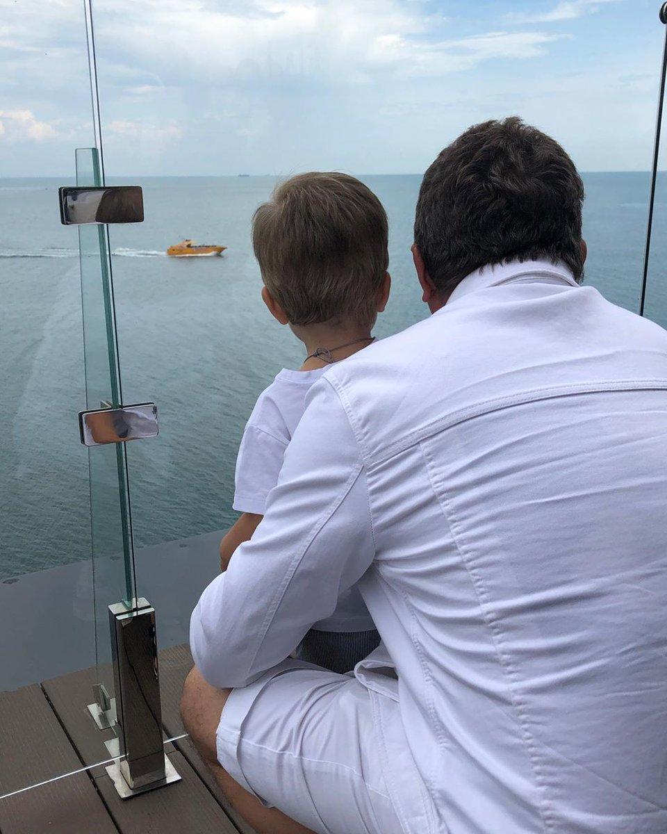 Юрий Горбунов с сыном