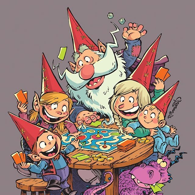 A fun promotional image I recently created for @gnomegames. A popular gaming store in my area. http://Gnomegames.com #gnomegames #gnomes #gnomesofinstagram #folklore #tabletopgames #gaming #familyfun #cartoonistsofinstagram #robbmommaerts https://ift.tt/2G9H0ey