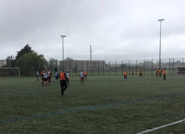 Nothing stops our #WalkingFootball at @anfield_sports; torrential rain...not a problem for these guys #LFCFamily #ThisMeansMore #LFC #YNWA<br>http://pic.twitter.com/wOJRjL9XTz