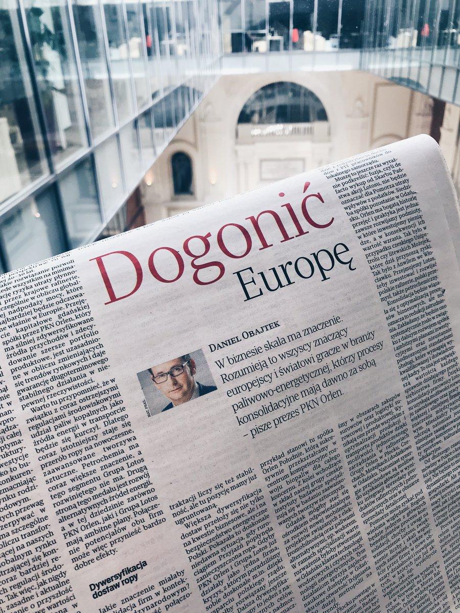 W dzisiejszym wydaniu @rzeczpospolita przedstawiamy rzeczowe argumenty dotyczące korzyści z połączenia @PKN_ORLEN i @GrupaLOTOS dla obu firm, Pomorza i całej polskiej gospodarki #PKNLTS