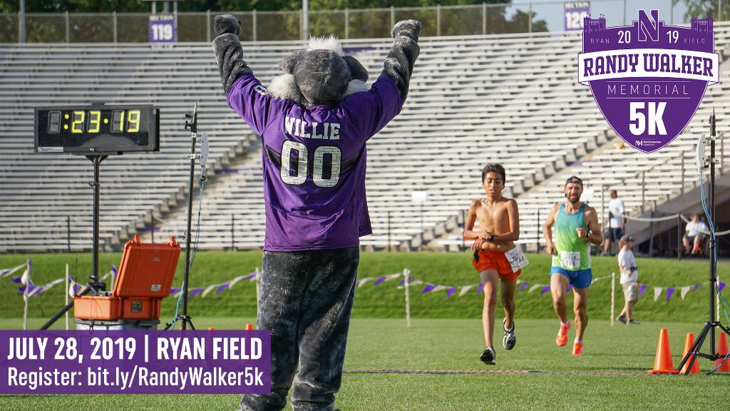 ✅ @WillieWildcatNU at the finish line ✅ @NUFBFamily ticket with registration ✅ Chicago skyline and lakefront views The Randy Walker Memorial 5k has it all. Sign up ➡️ bit.ly/RandyWalker5k