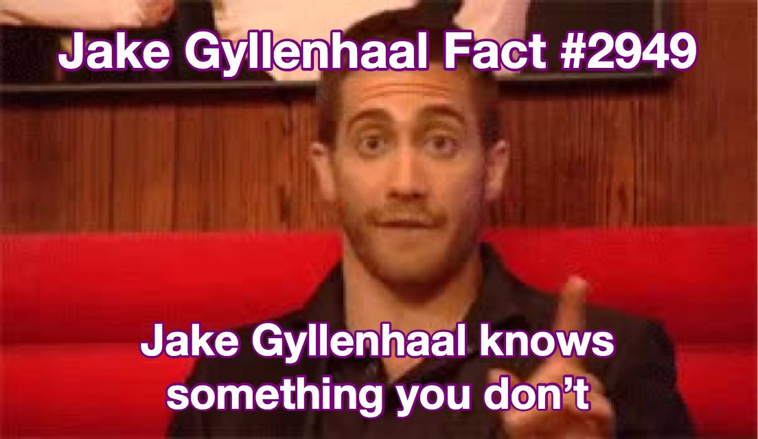 jake gyllenhaal facts (@GyllenhaalFacts) on Twitter photo 14/07/2019 20:19:44