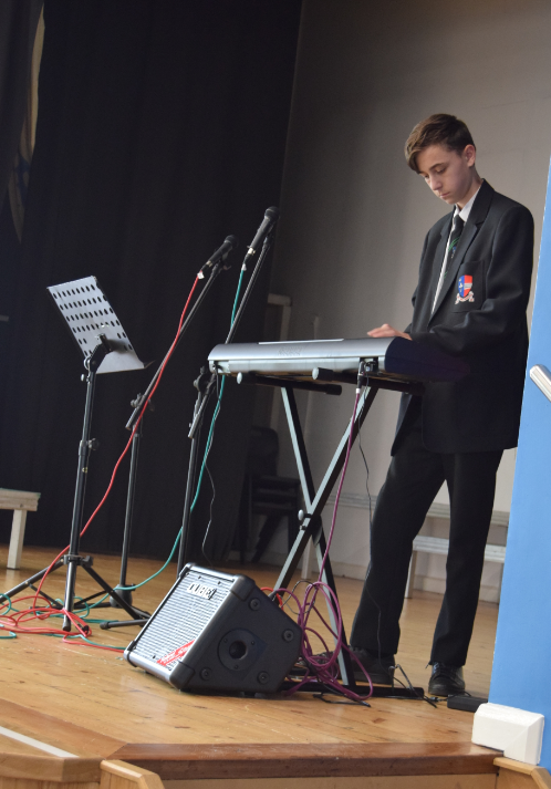 Talented students performing at lunchtime today in an Open Lounge session @the_atlp