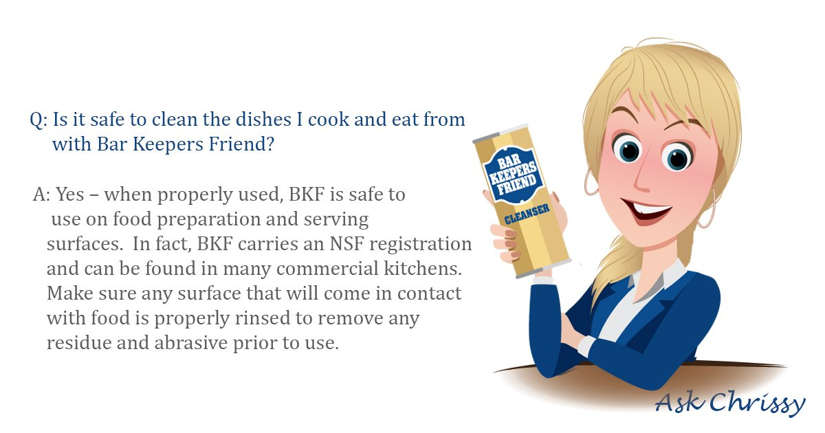 Did you know that Bar Keepers Friend is used in many commercial kitchens? #BKFfaq #AskChrissy https://t.co/rYXYG0Tt5f https://t.co/kHr45nlWHV