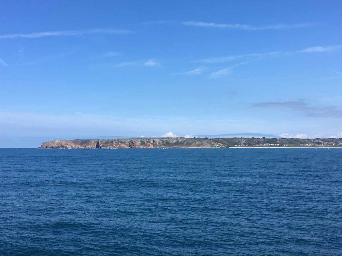 #CaptainsLog Beautiful afternoon off #Jersey, stunning coastline with lovely beaches. Must #BoldlyGo visit sometime!