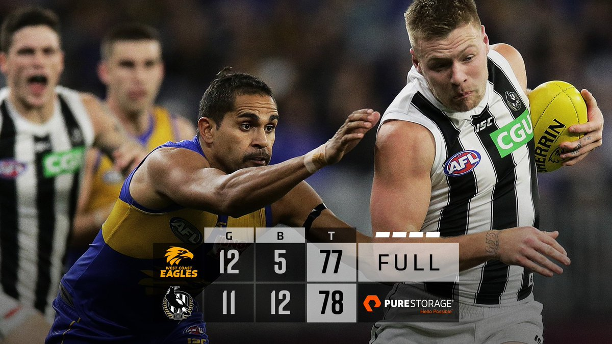 A win for the ages.  #AFLEaglesPies #GoPies