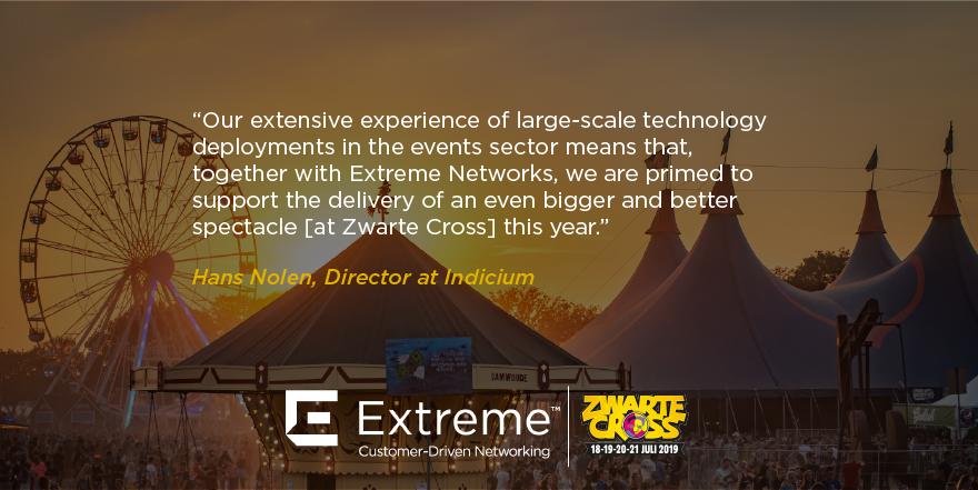 Aujourd'hui débute le @zwartecross festival aux Pays-Bas. @ExtremeNetworks et son partenaire @IndiciumBV ont déployé le #WiFi du festival pour une meilleure expérience.